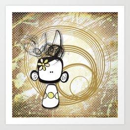 swirl girl Art Print