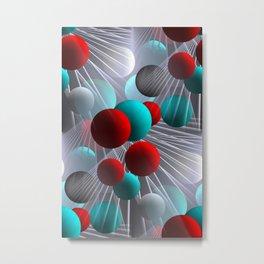crazy lines and balls -21- Metal Print