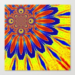 The Modern Flower Primary Colors Canvas Print