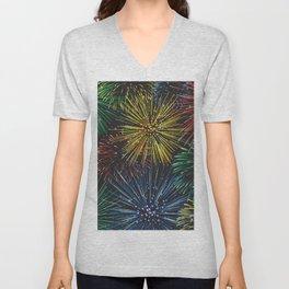 Fireworks in the Sky Unisex V-Neck