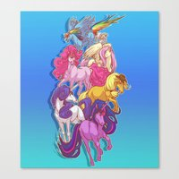 mlp Canvas Prints featuring MLP... esque by Sempaiko