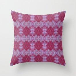 Pink Bloom Shibori Throw Pillow