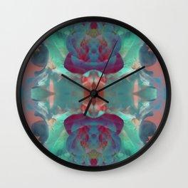 Deep in a Blue Flower Kaleidoscope Wall Clock