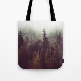 Mountain Morning Mist - Nature Photography Tote Bag