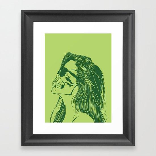 Skull Girl 2 Framed Art Print