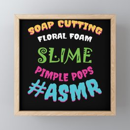 ASMR Sounds Framed Mini Art Print
