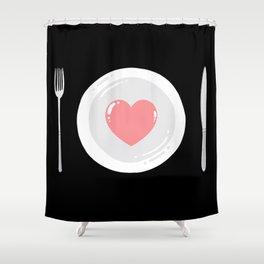 Eat Love Shower Curtain