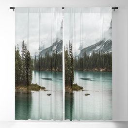 Emerald Landscape Photography | Maligne Lake | Jasper Alberta | Spirit Island Blackout Curtain