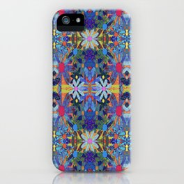 Garden Party - Blue iPhone Case