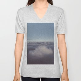 Panorama of clouds over sky Unisex V-Neck