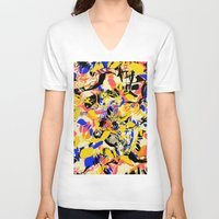 fight V-neck T-shirts featuring Fight by Larionov Aleksey