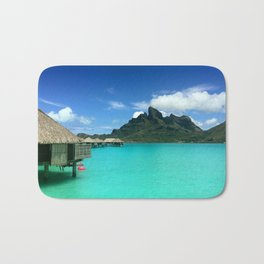 Bora Bora with Mount Otemanu Bath Mat