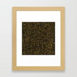 Hieroglyphics GOLD Framed Art Print