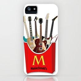 Maniac Donald's guitar potato iPhone Case
