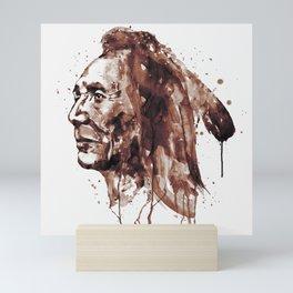 Indian Warrior Sepia Tones Mini Art Print