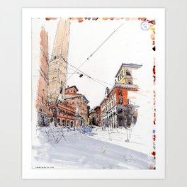 Bologna towers Art Print