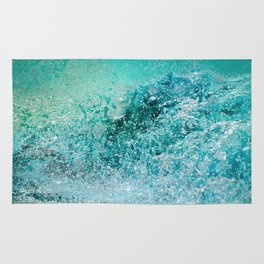 Turquoise Wave - Blue Water Scene Rug