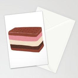 Neapolitan Ice Cream Sandwich Stationery Cards