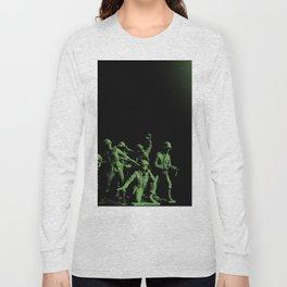 Plastic Army Man Battalion Black and Green Long Sleeve T-shirt