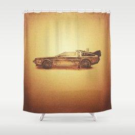 Lost in the Wild Wild West! (Golden Delorean Doubleexposure Art) Shower Curtain