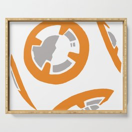 Orange and Gray Color Block Serving Tray