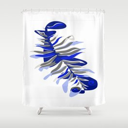 Abstract amorphous leaf design Shower Curtain