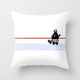 The Goalie - after a hockey game Throw Pillow