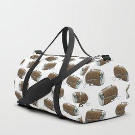 Champagne Cork Polka Dot Pattern Duffle Bag