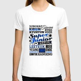 SUPER JUNIOR Font Collage T-shirt