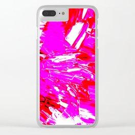 Pop Raspberry Truffle Clear iPhone Case