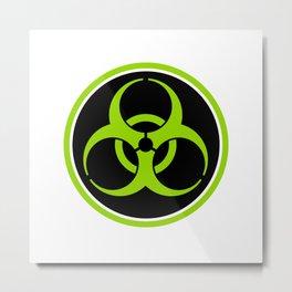 Biohazard Symbol Circle Metal Print