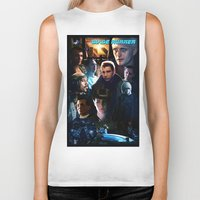 blade runner Biker Tanks featuring Blade Runner by Saint Genesis