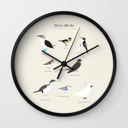 Dirty Birds Wall Clock