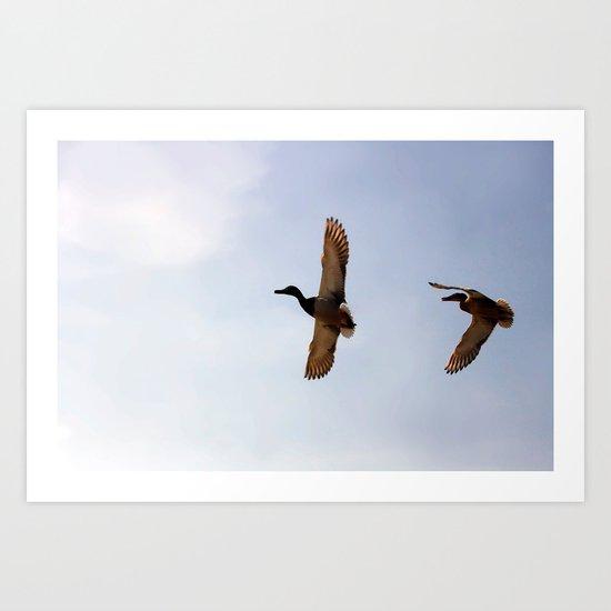 """""""Volando juntos"""" Art Print"""
