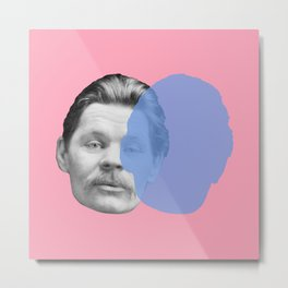 Maxim Gorky - pink blue portrait Metal Print