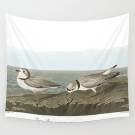 Piping plover, Birds of America, Audubon Plate 220 Wall Tapestry