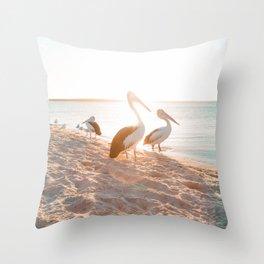 Pelicans // Australia Throw Pillow