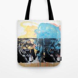 YAWNING TIGERS Tote Bag