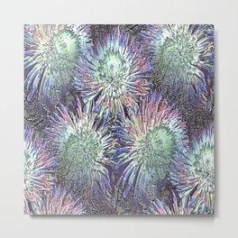 Artfully abstract blooming ice flowers Metal Print