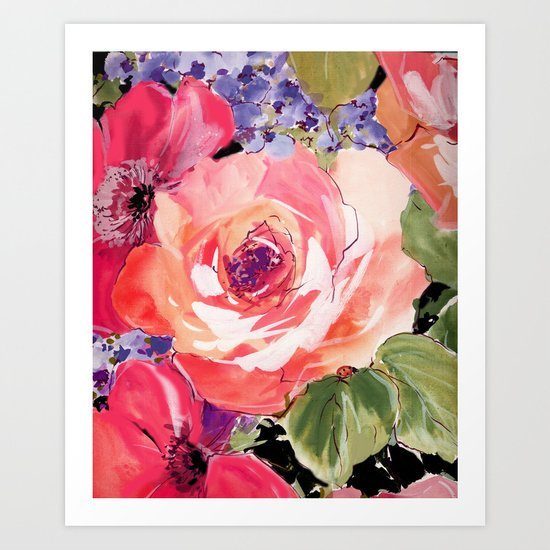 The Rose floral  Art Print