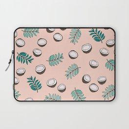 Little coconut garden summer surf palm leaves pink Laptop Sleeve