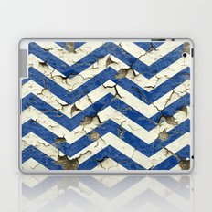 Peeling Chevrons Blue Laptop & iPad Skin