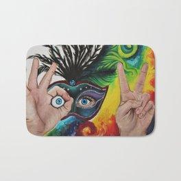 Psychedelic Mardi Gras Bath Mat
