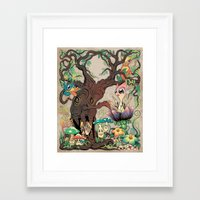 jungle Framed Art Prints featuring JUNGLE by GEEKY CREATOR
