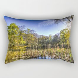 The Bulrush Pond Rectangular Pillow