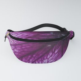 Purple Pansy Flower Fanny Pack