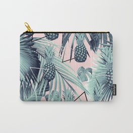 Tropical Pineapple Jungle Geo #2 #tropical #summer #decor #art #society6 Carry-All Pouch
