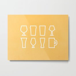 Beer Glasses Metal Print