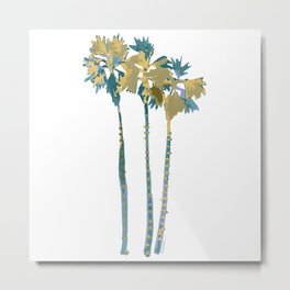 Palm Tree Breezes Metal Print