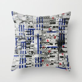 The Way of Invisible Things (P/D3 Glitch Collage Studies) Throw Pillow